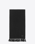 SAINT LAURENT Rectangular Scarf D Scarf in Black Cashmere Jacquard f