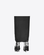 SAINT LAURENT Rectangular Scarf D Long stole in black gauze f