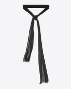 SAINT LAURENT Lavallière D Ascot scarf in black silk shantung f