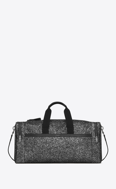 SAINT LAURENT Travel Man City gym bag in metallic glitter a_V4