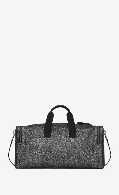 SAINT LAURENT Travel Uomo City gym bag in black metallic glitter and leather b_V4