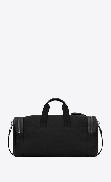 SAINT LAURENT Travel Uomo City gym bag in black canvas and leather b_V4