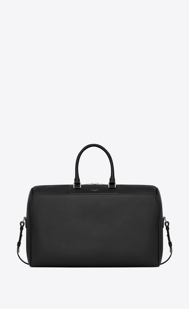 SAINT LAURENT Travel Man 24h Duffle bag in black leather a_V4