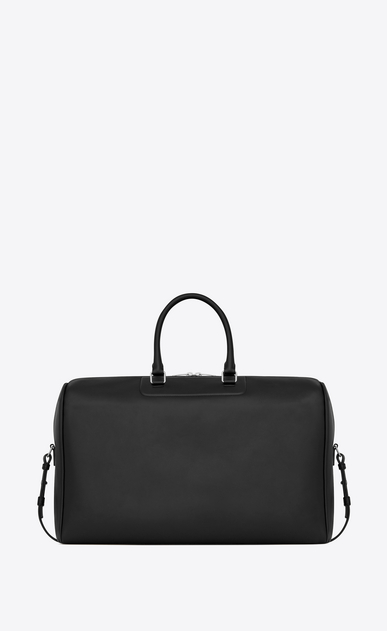 SAINT LAURENT Travel Man 24h Duffle bag in black leather b_V4