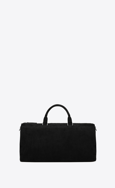 SAINT LAURENT Travel Uomo Andy duffle bag in black corduroy and leather b_V4