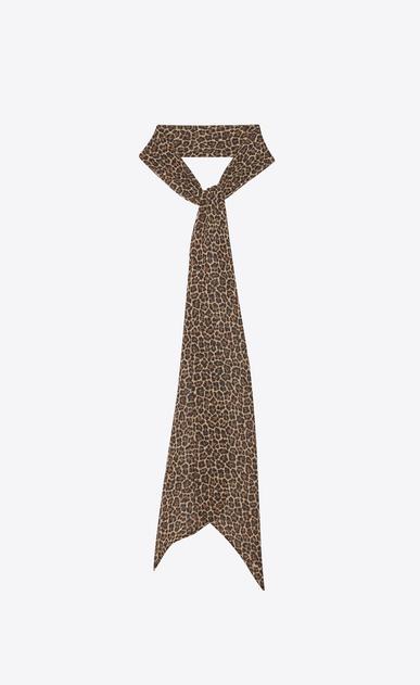 SAINT LAURENT Lavallière Woman leopard silk georgette Lavallière a_V4