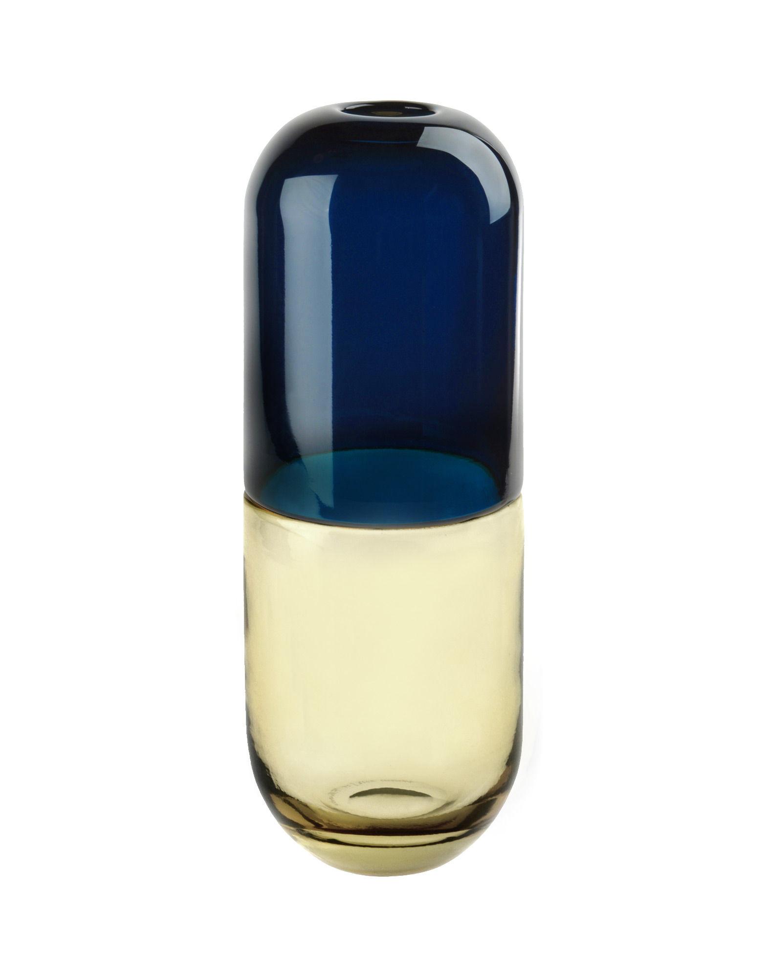 《送料無料》VENINI Unisex ベース ブルー 吹きガラス TESTOSTERONE
