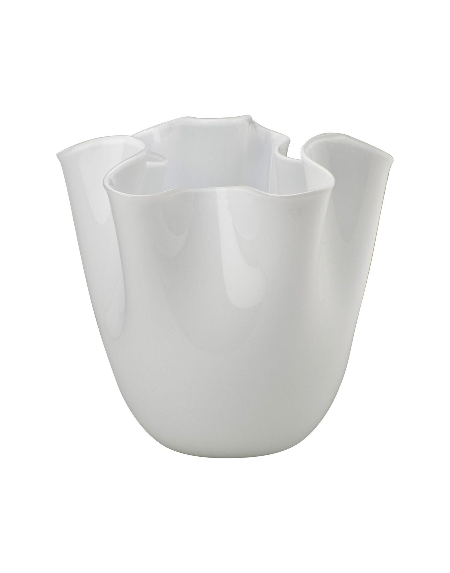 《セール開催中》VENINI Unisex ベース ホワイト ガラス Fazzoletto Opalino