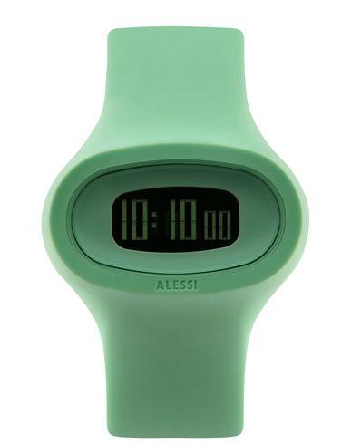 ALESSI レディース 腕時計 ライトグリーン ポリウレタン / ガラス