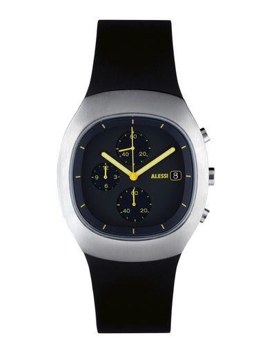 ALESSI メンズ 腕時計 ブラック ステンレススチール / ガラス / ポリウレタン