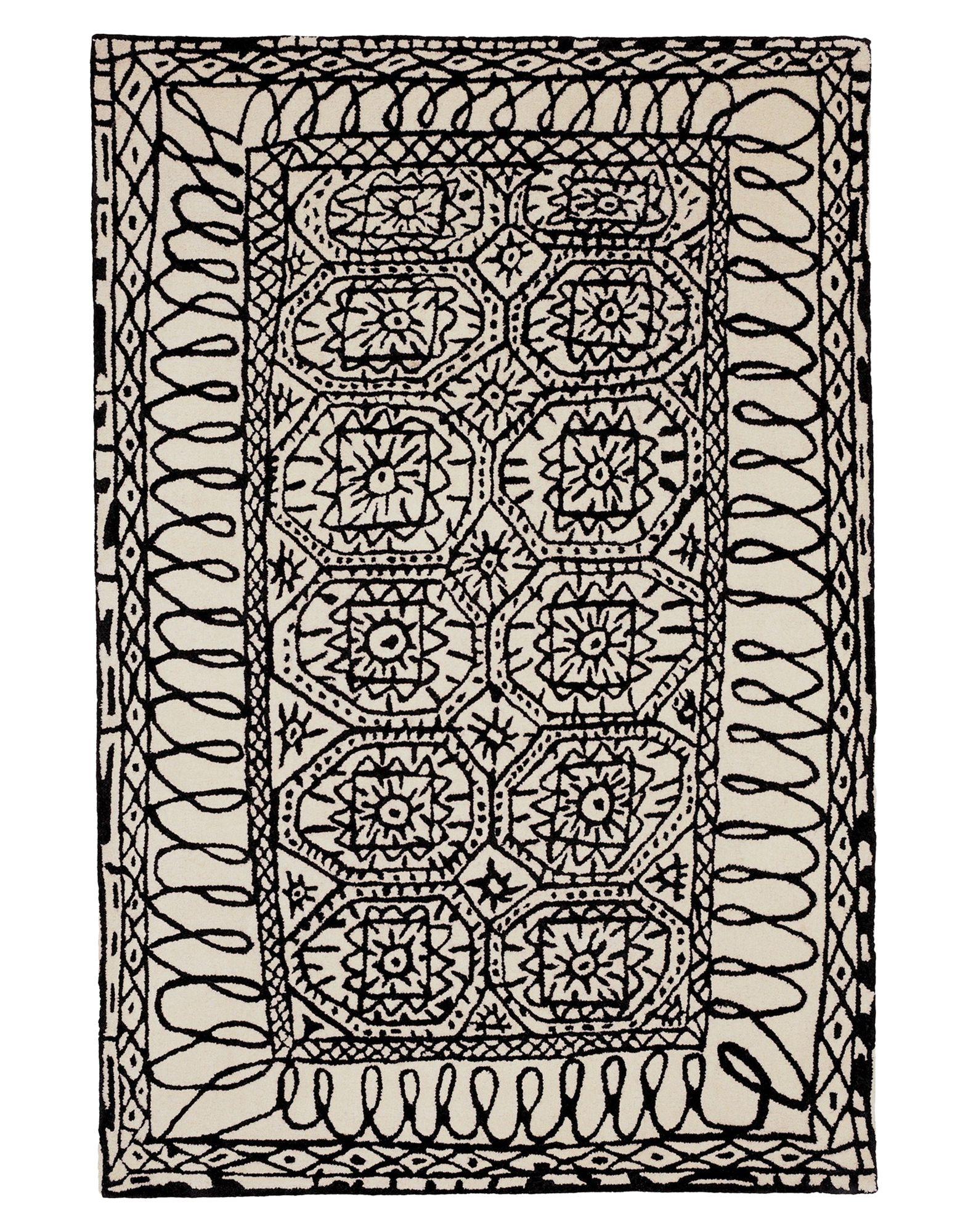 NANIMARQUINA Unisex Teppich Farbe Elfenbein Größe 1
