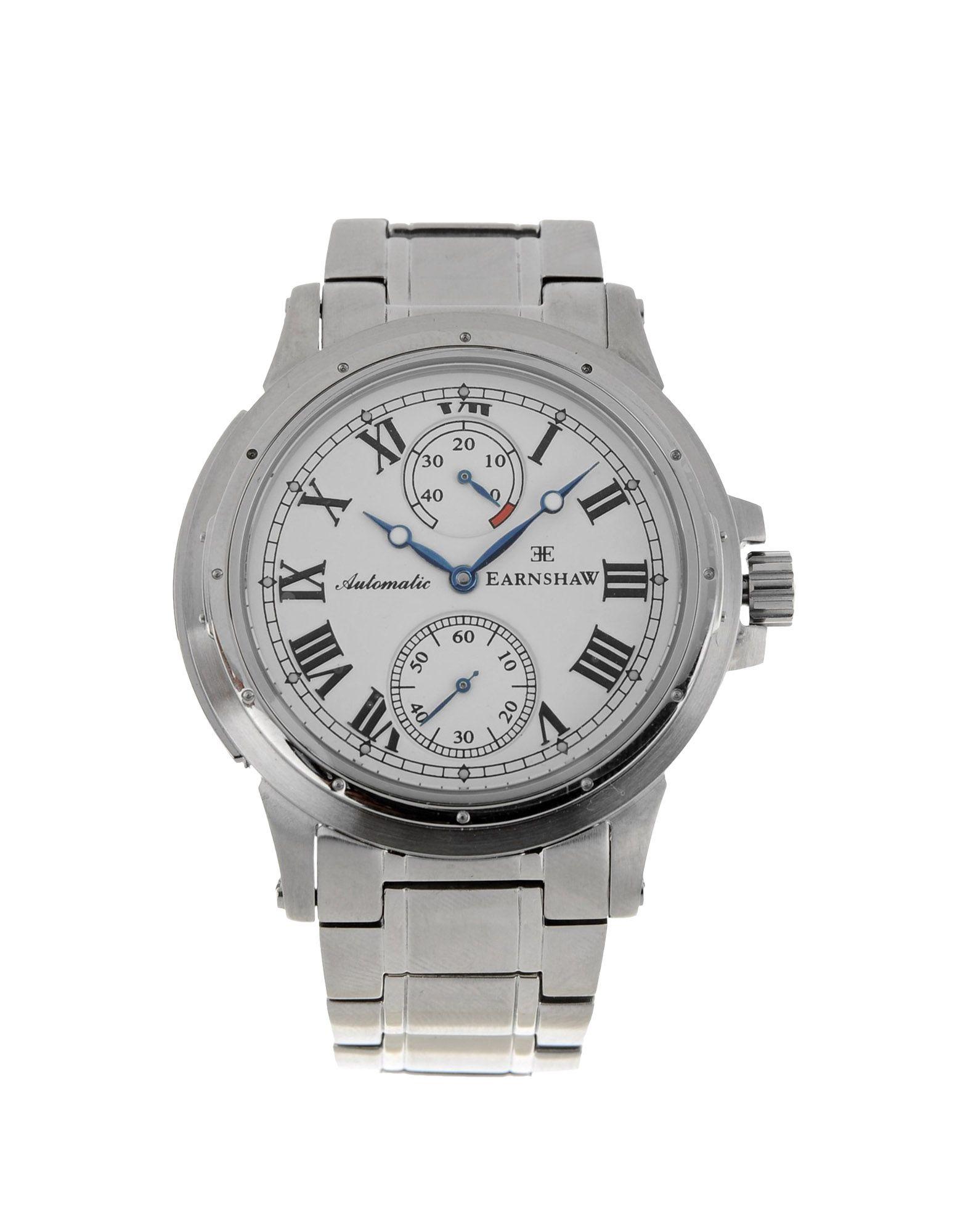 メンズ EARNSHAW 腕時計 ホワイト