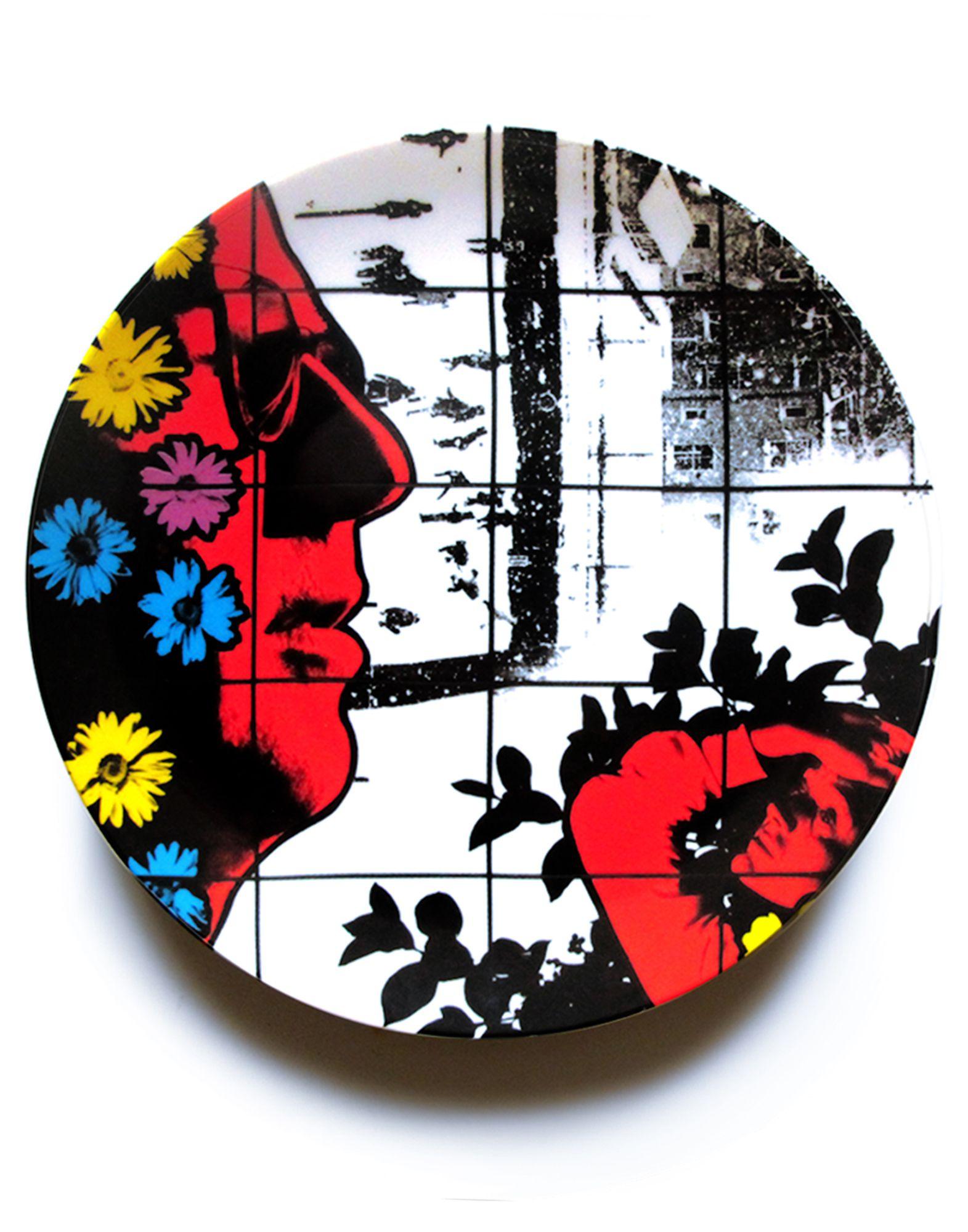 《セール開催中》LIGNE BLANCHE Unisex オーナメンタルプレート (-) セラミック Winter Flowers