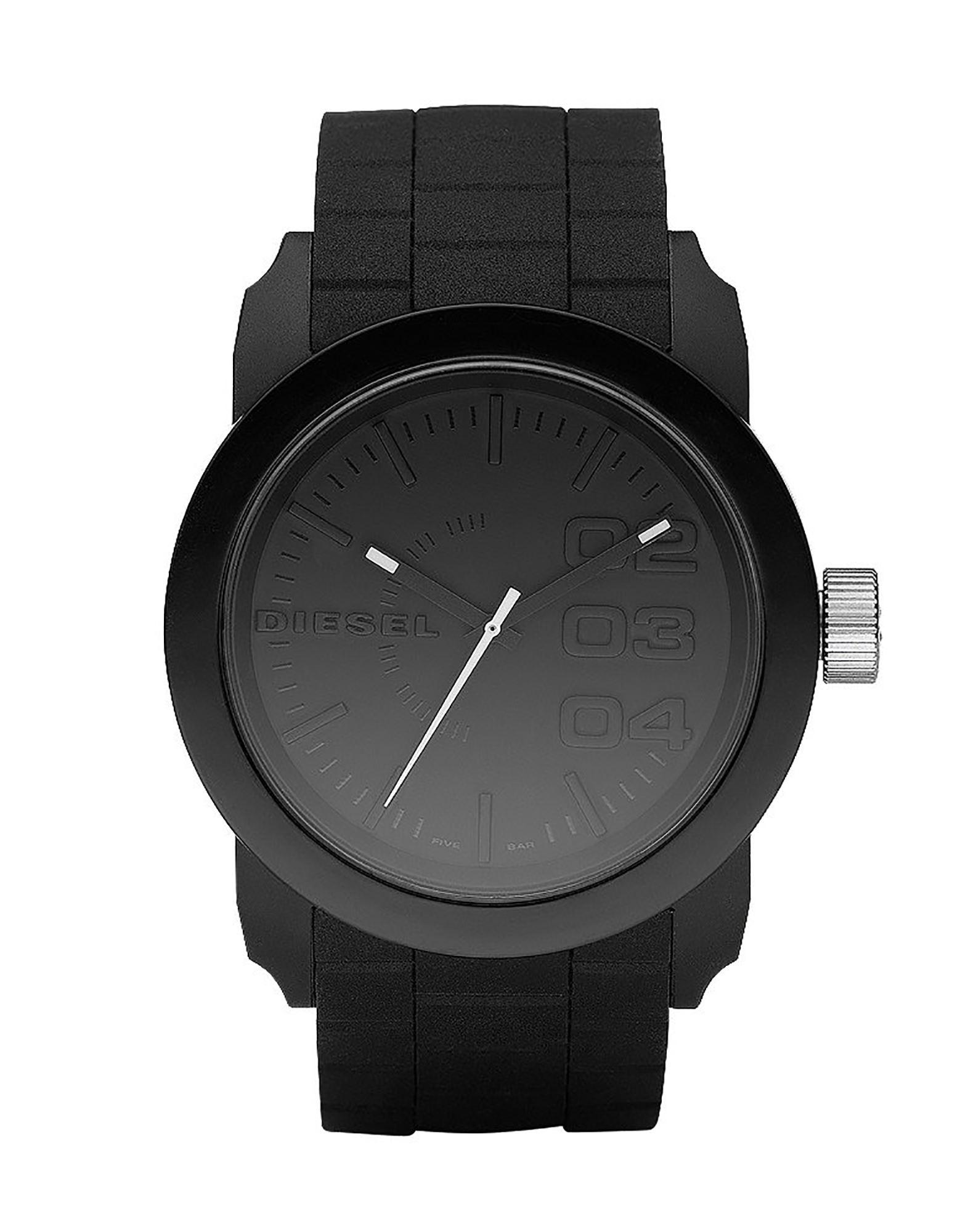 《セール開催中》DIESEL Unisex 腕時計 ブラック ステンレススチール DOUBLE DOWN 44