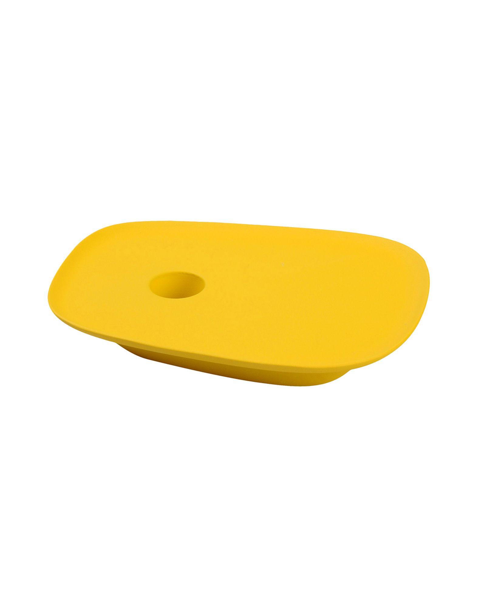 MUUTO Unisex Kerzenleuchter Farbe Gelb Größe 1