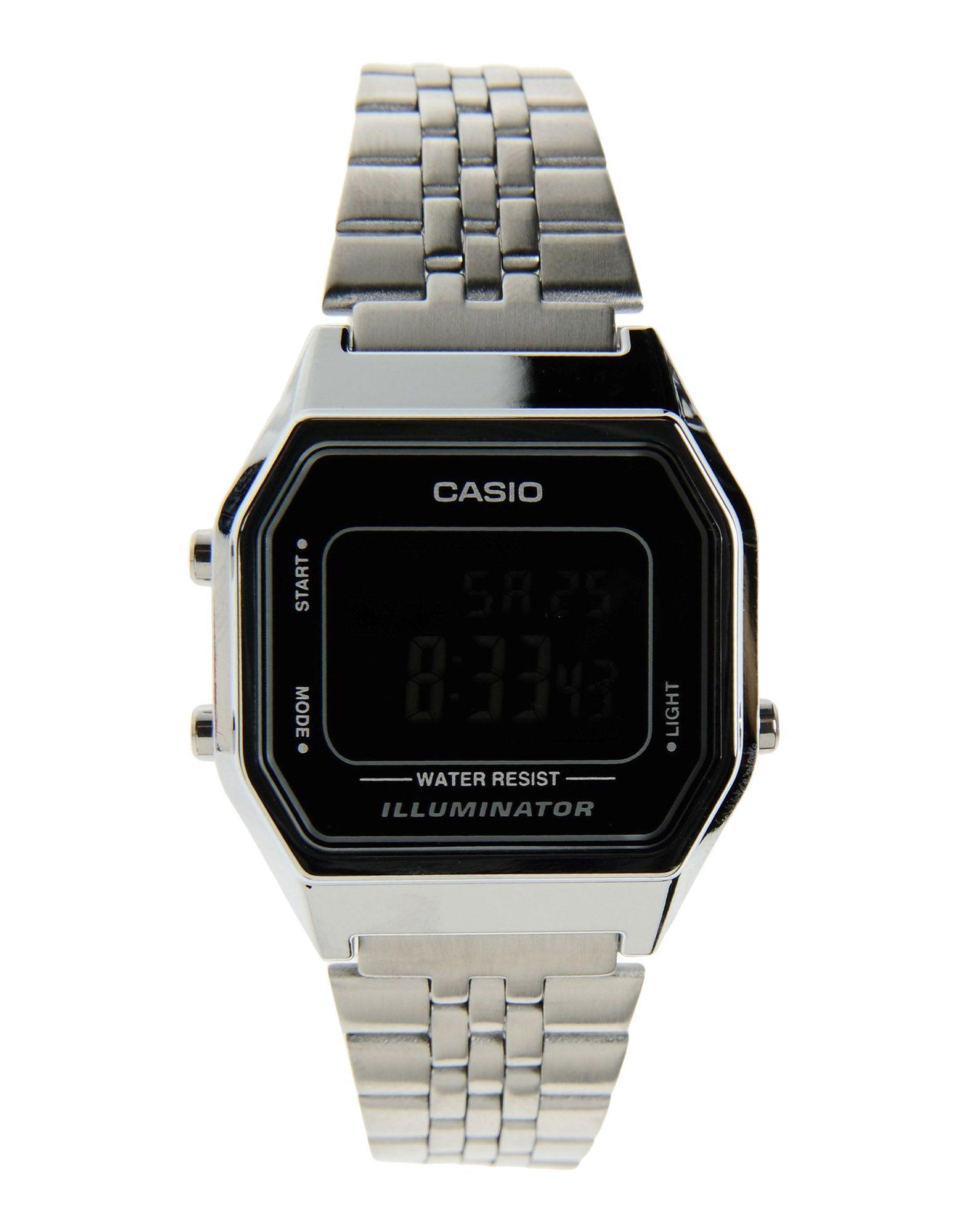 《送料無料》CASIO Unisex 腕時計 ブラック ステンレススチール Retro Vintage LA680WA-2B