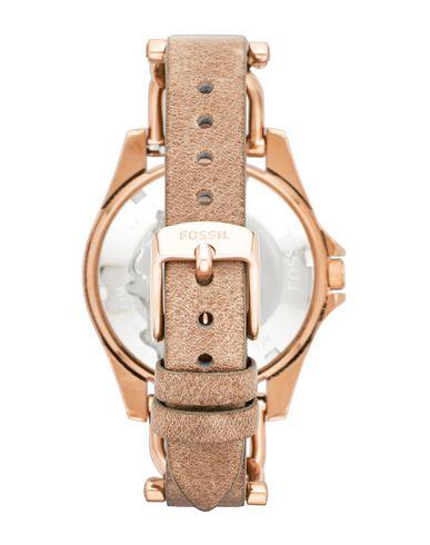 FOSSIL Damen Armbanduhr Kupfer Edelstahl Leder Kristall