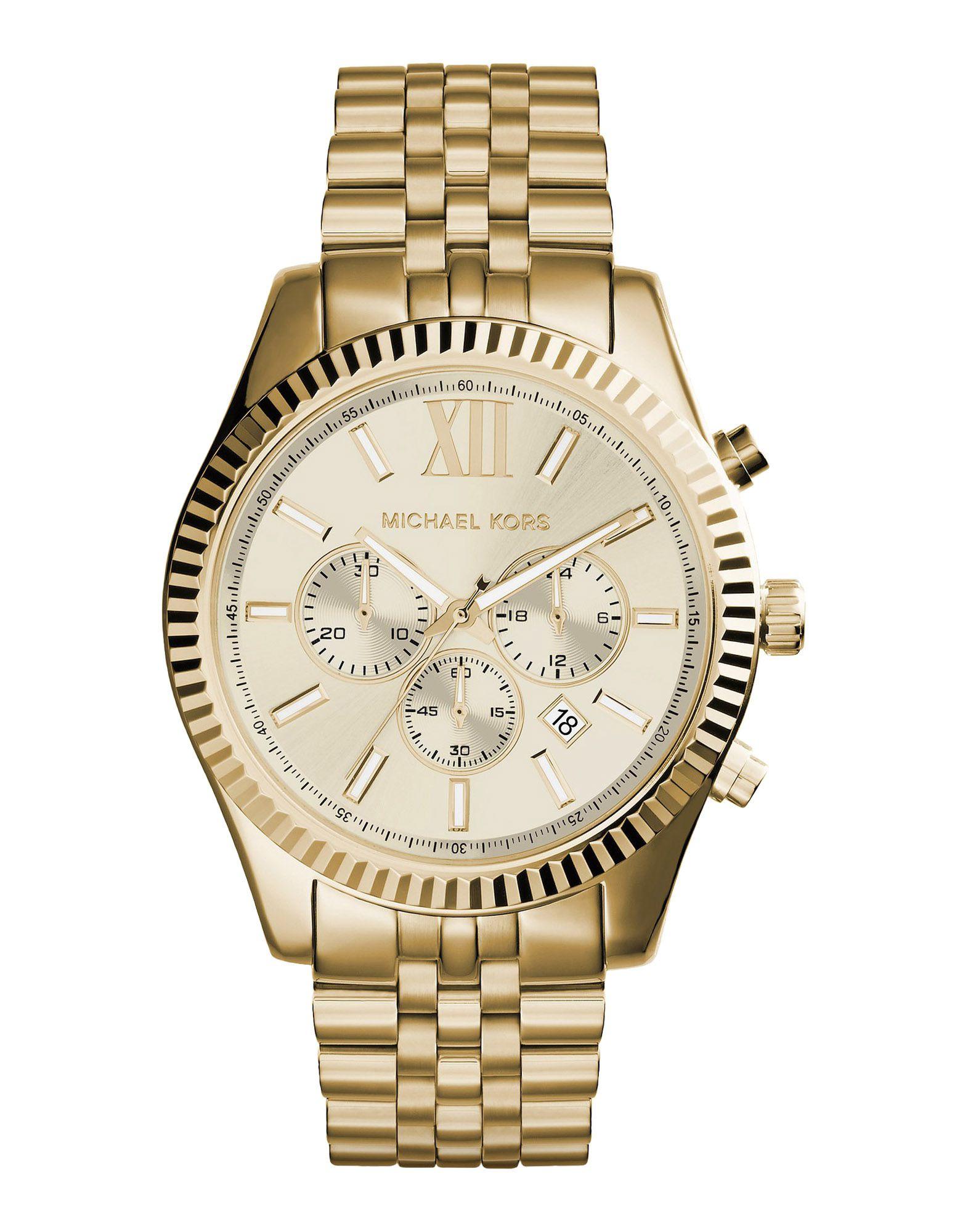 メンズ マイケル コース 腕時計 ゴールド