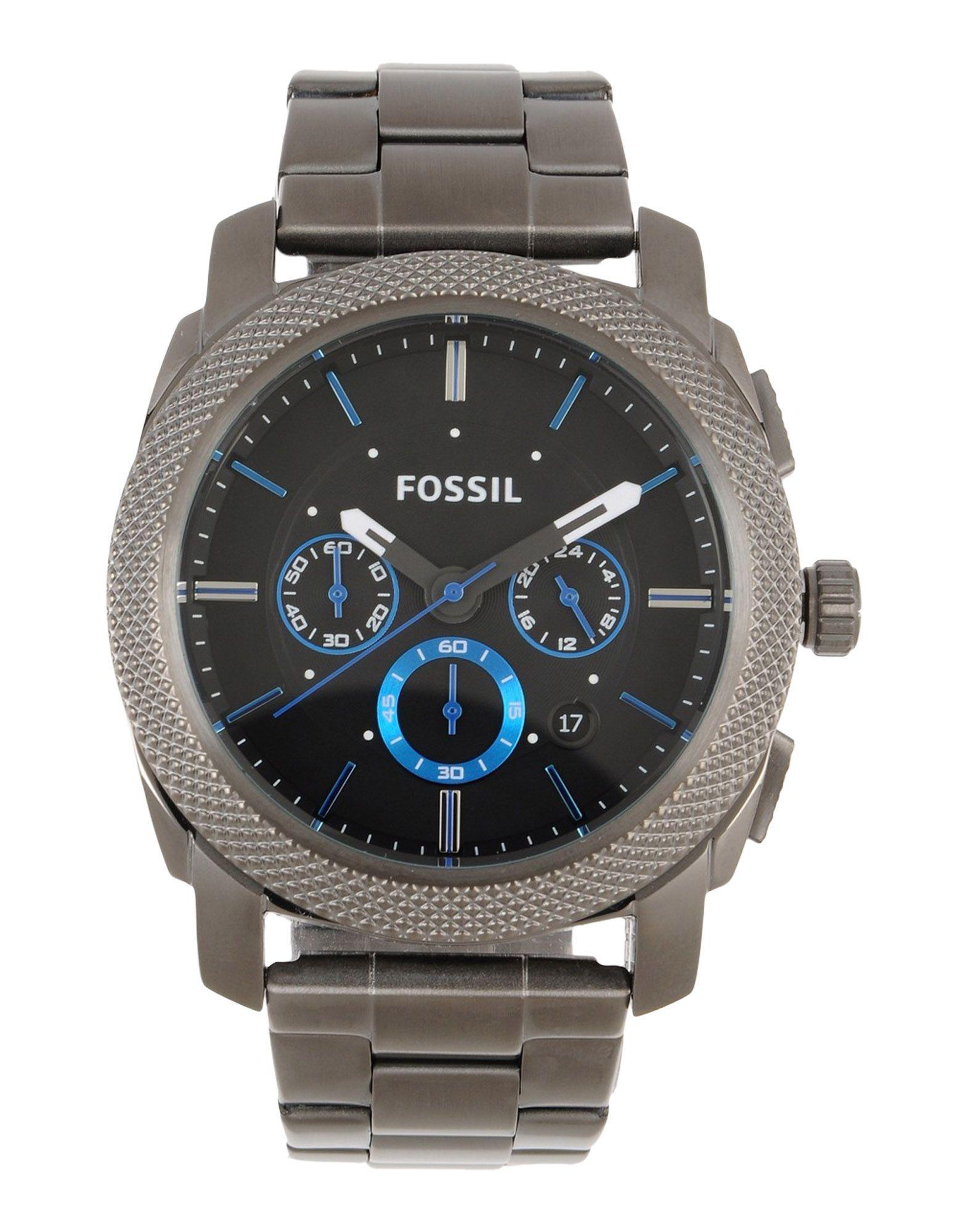 メンズ FOSSIL 腕時計 鉛色
