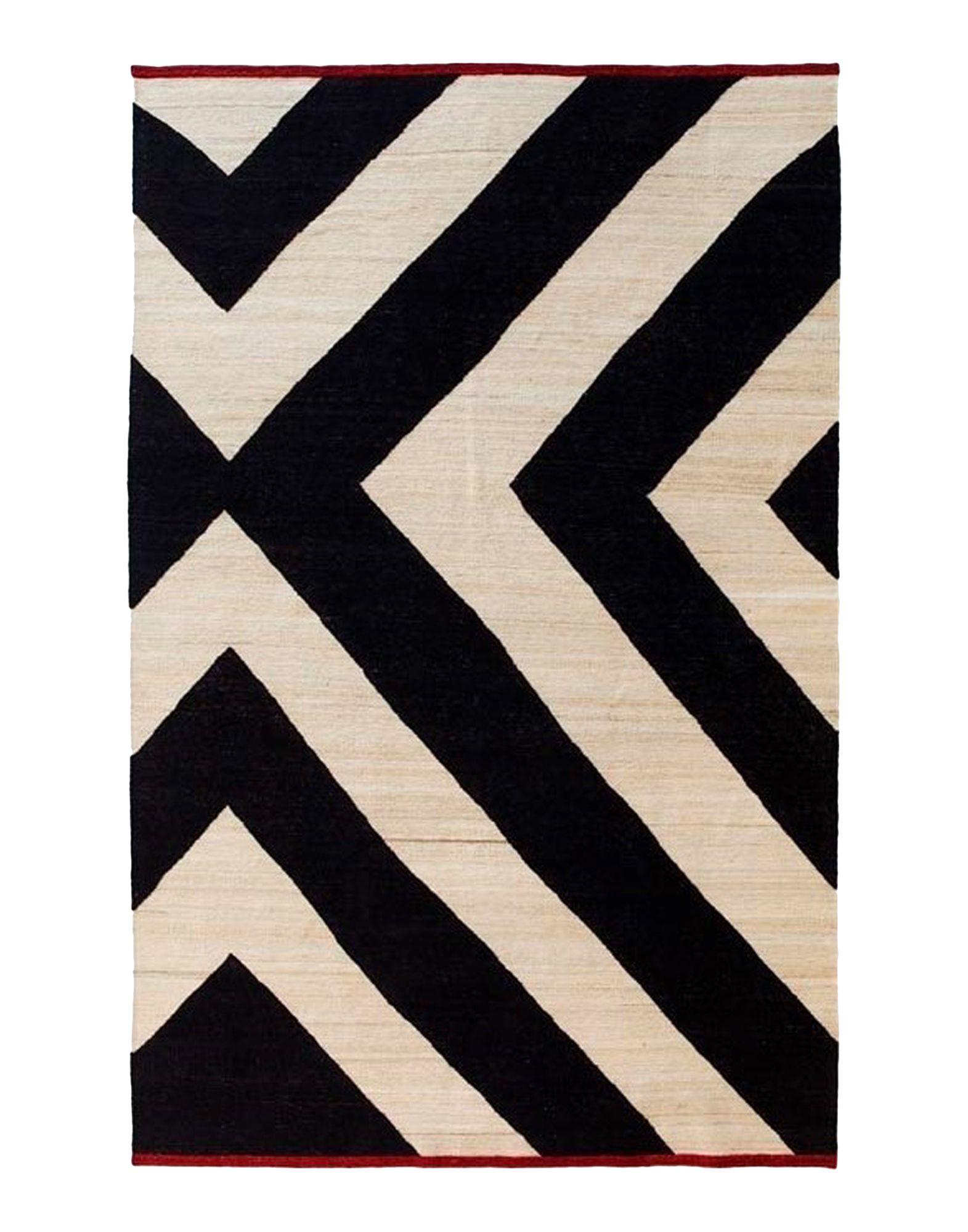 NANIMARQUINA Unisex Teppich Farbe Schwarz Größe 1