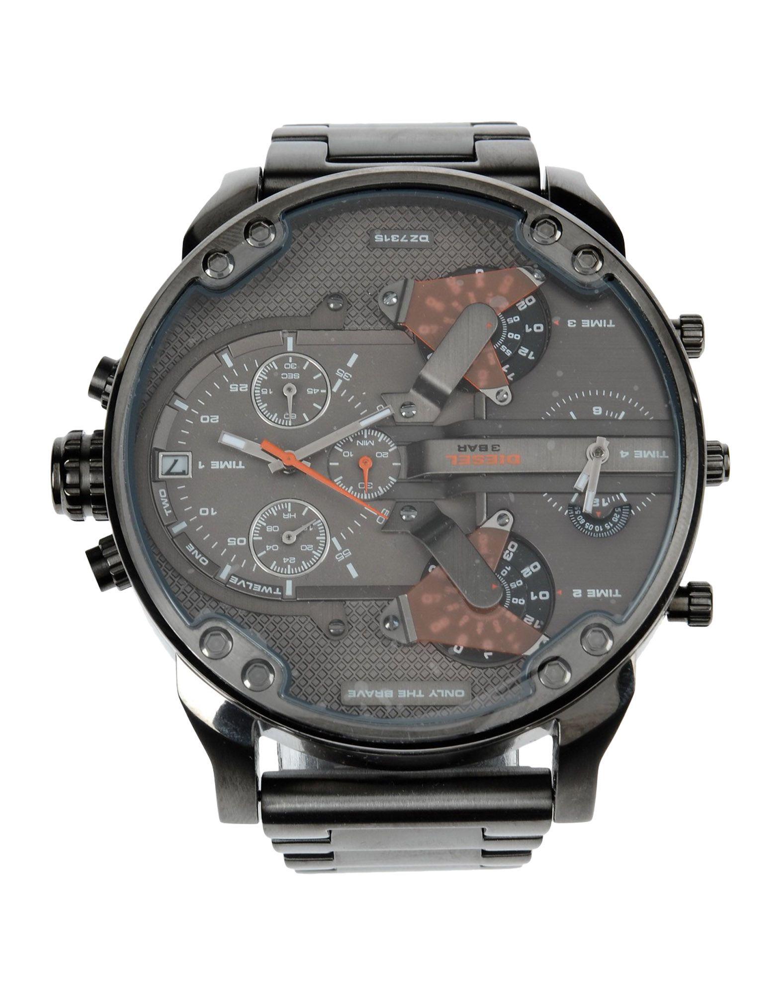 メンズ ディ-ゼル 腕時計 鉛色