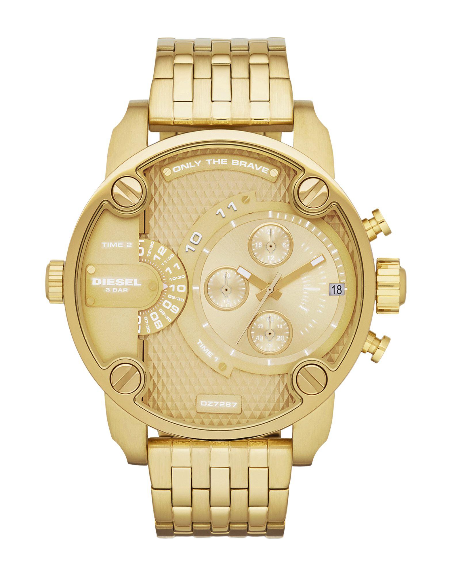 《セール開催中》DIESEL メンズ 腕時計 ゴールド ステンレススチール LITTLE DADDY