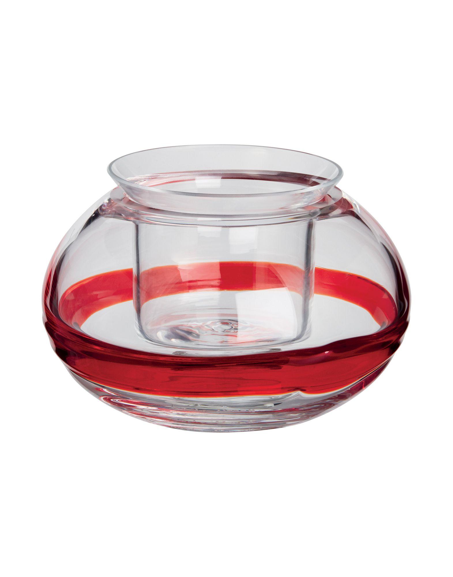 《送料無料》CARLO MORETTI Unisex キャンドルスタンド レッド ガラス Lumino