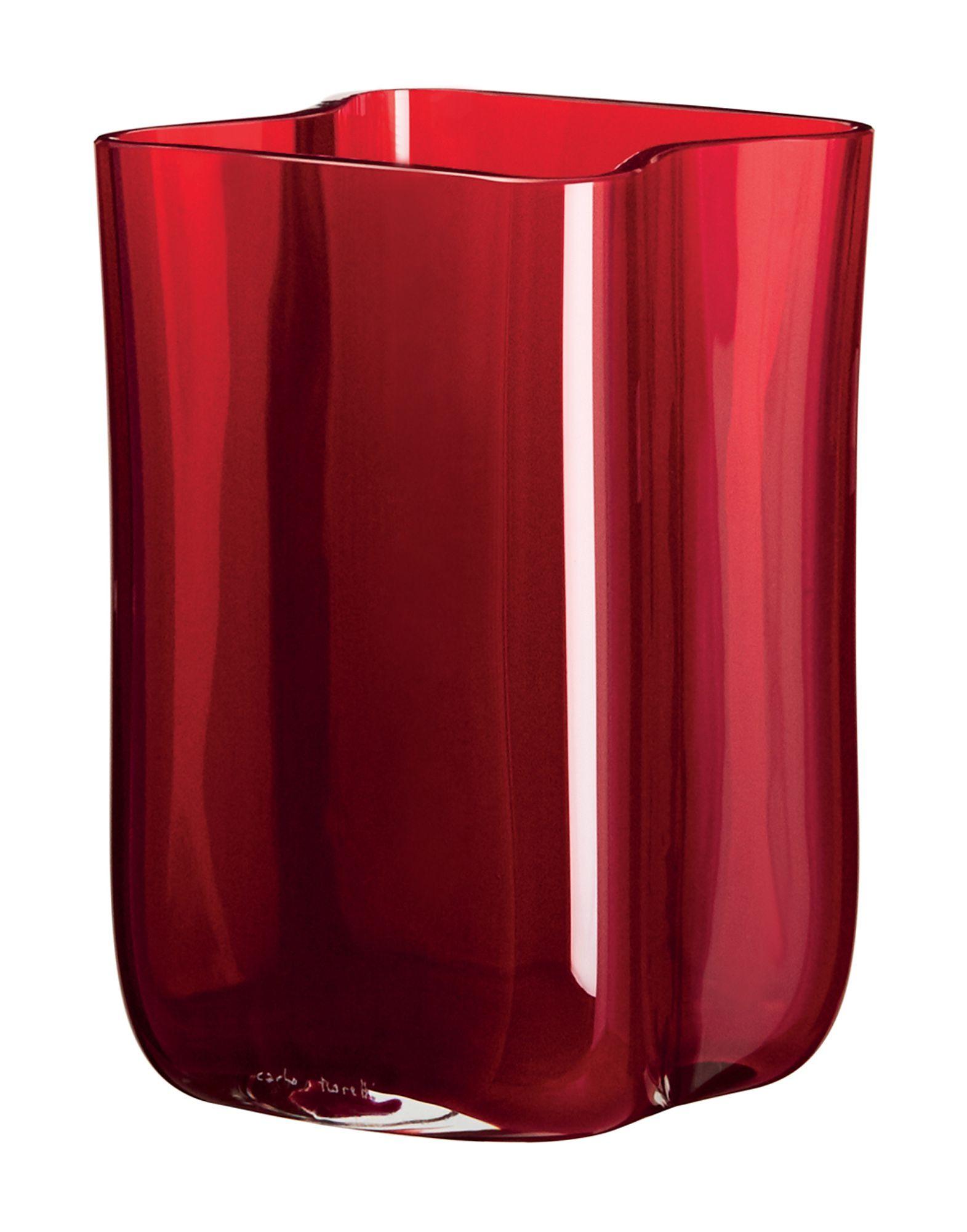 《送料無料》CARLO MORETTI Unisex ベース レッド ガラス Bosco