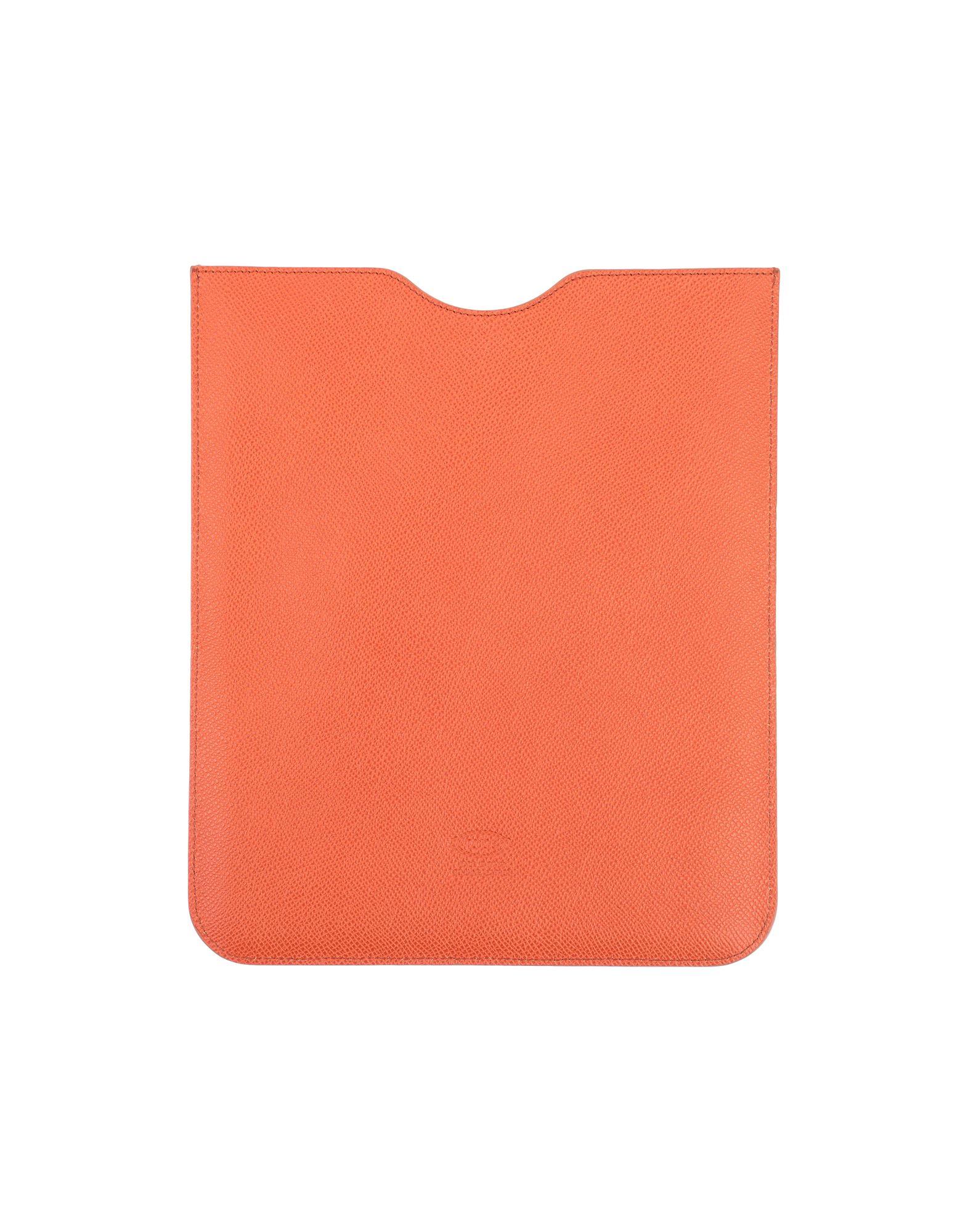 《セール開催中》TOD'S メンズ ハイテク機器アクセサリー オレンジ 革