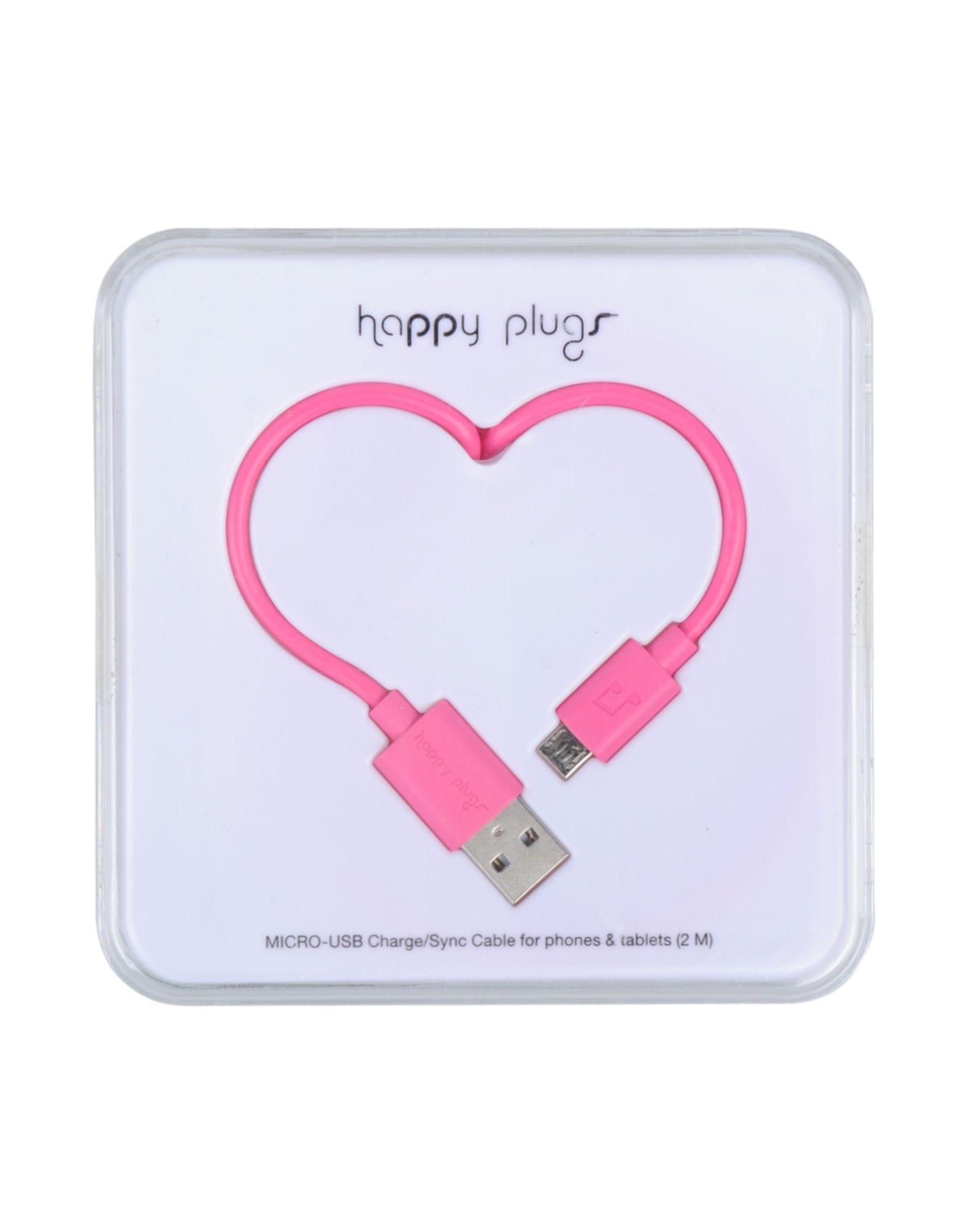 《送料無料》HAPPY PLUGS レディース ハイテク機器アクセサリー フューシャ ゴム