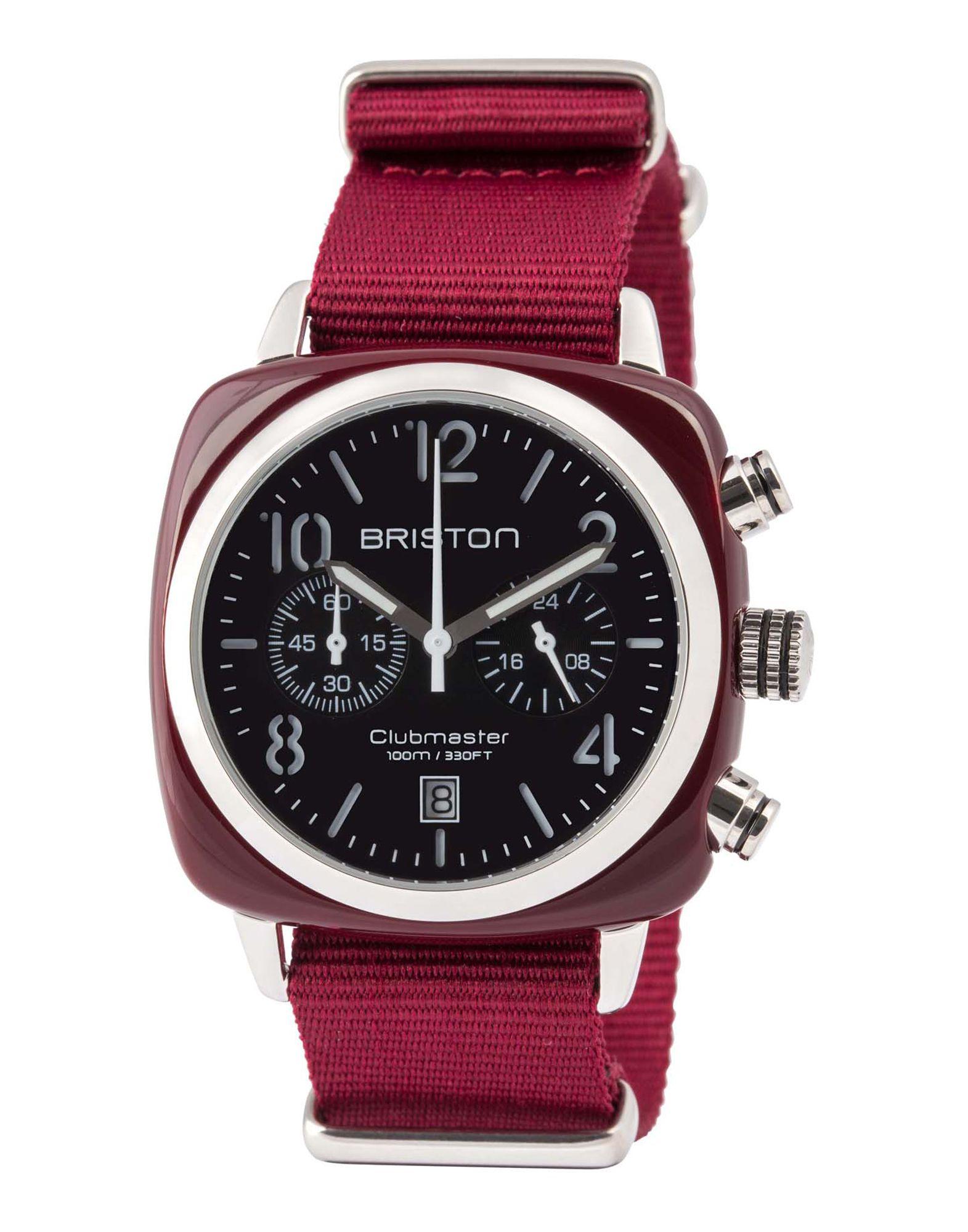 《送料無料》BRISTON メンズ 腕時計 ガーネット ステンレススチール