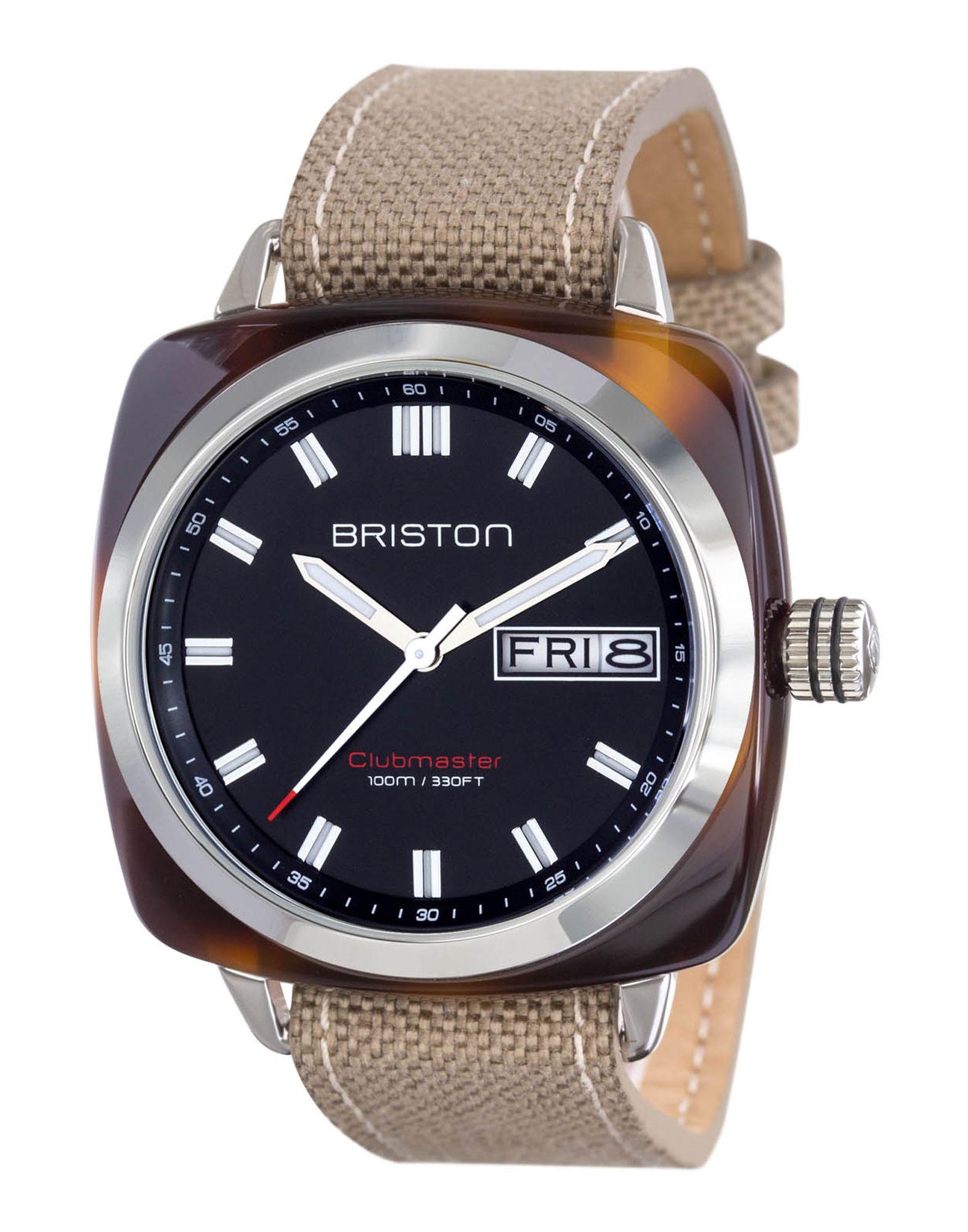 《送料無料》BRISTON メンズ 腕時計 ブラック ステンレススチール