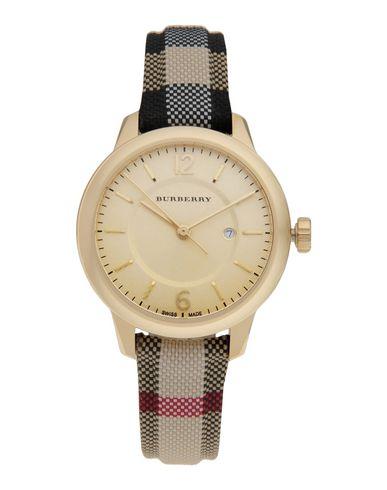 BURBERRY メンズ 腕時計 プラチナ 金属繊維