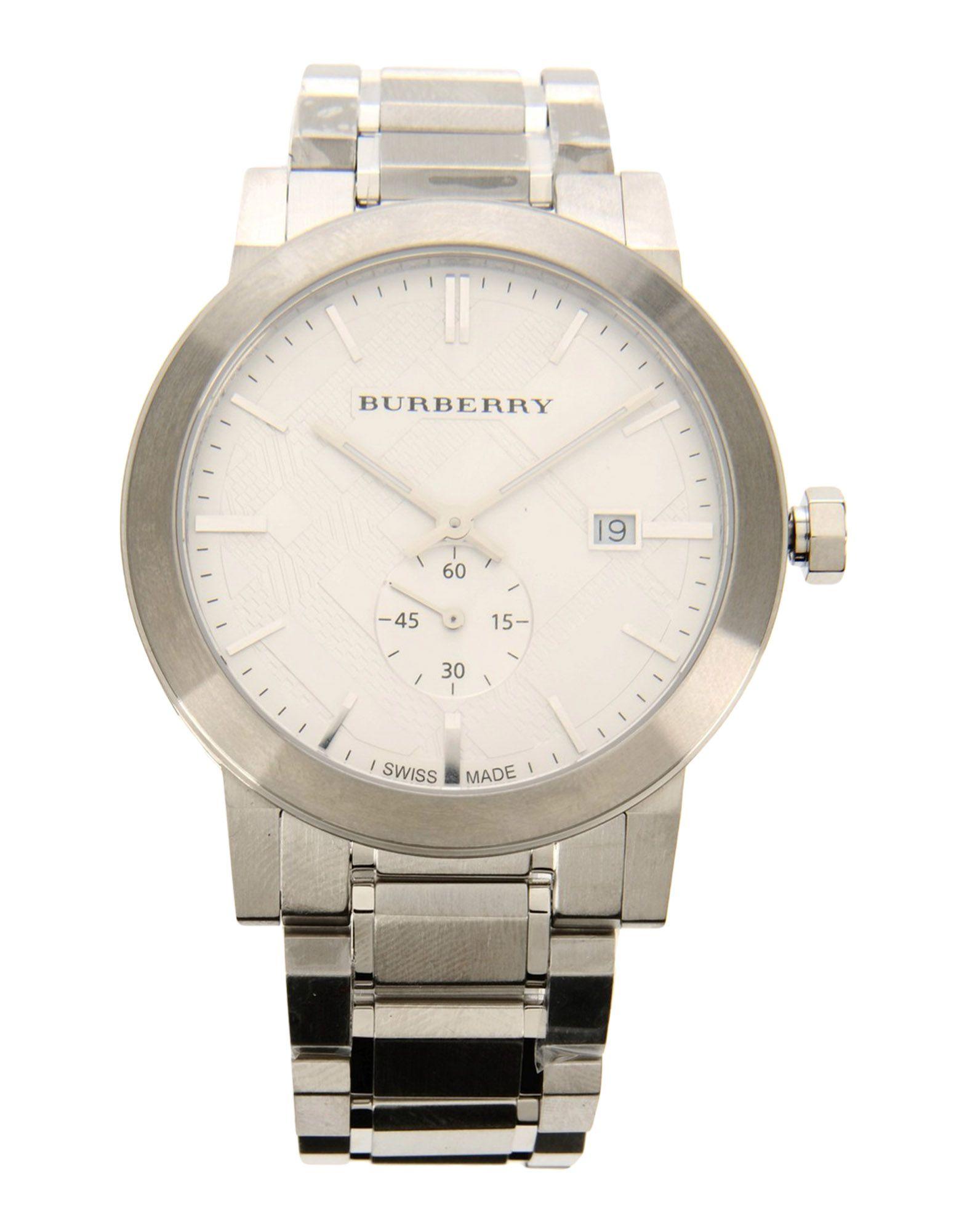 メンズ BURBERRY 腕時計 シルバー