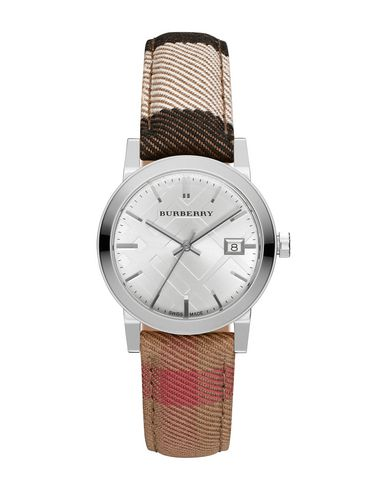 BURBERRY レディース 腕時計 アイボリー 金属繊維