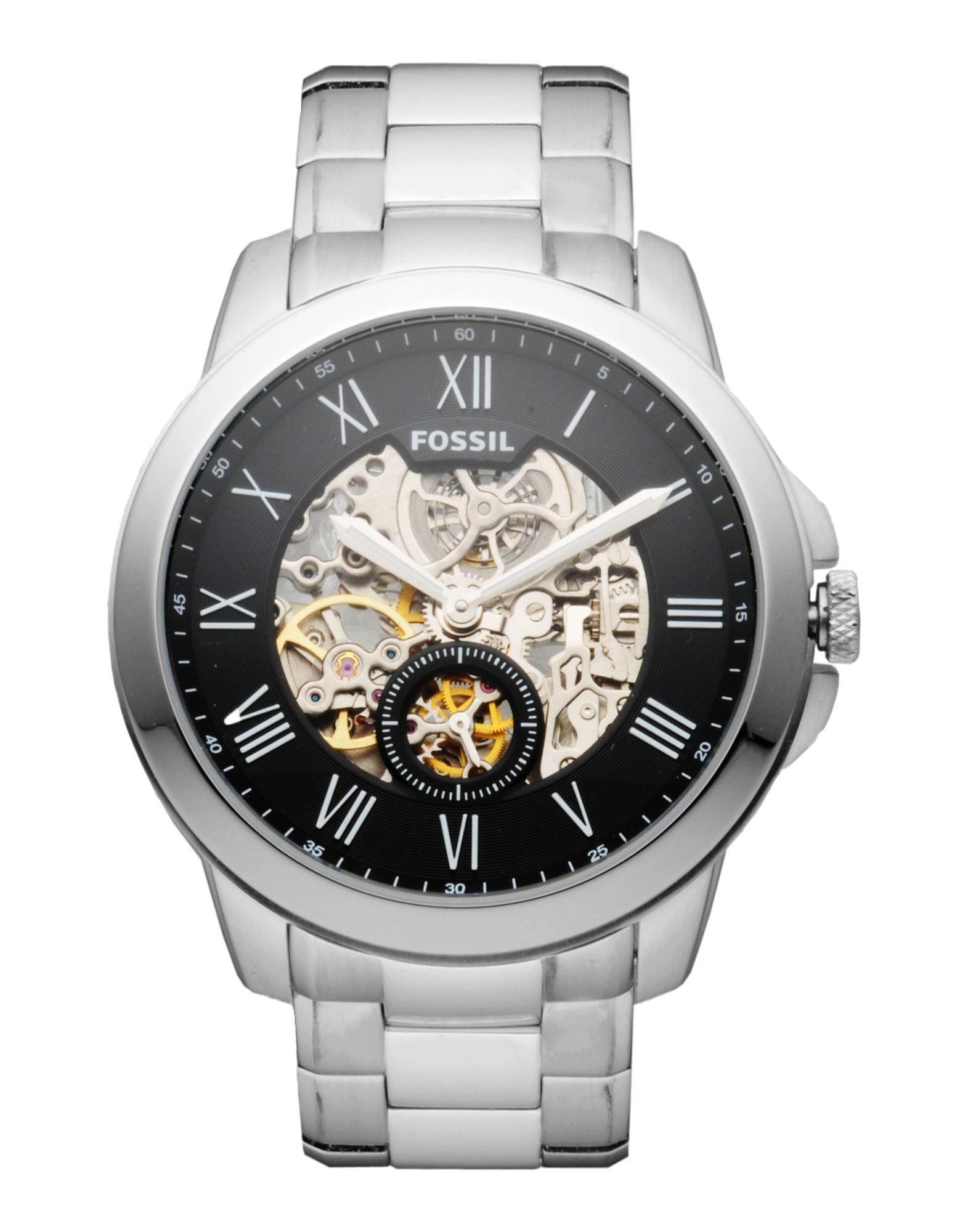 メンズ FOSSIL 腕時計 シルバー