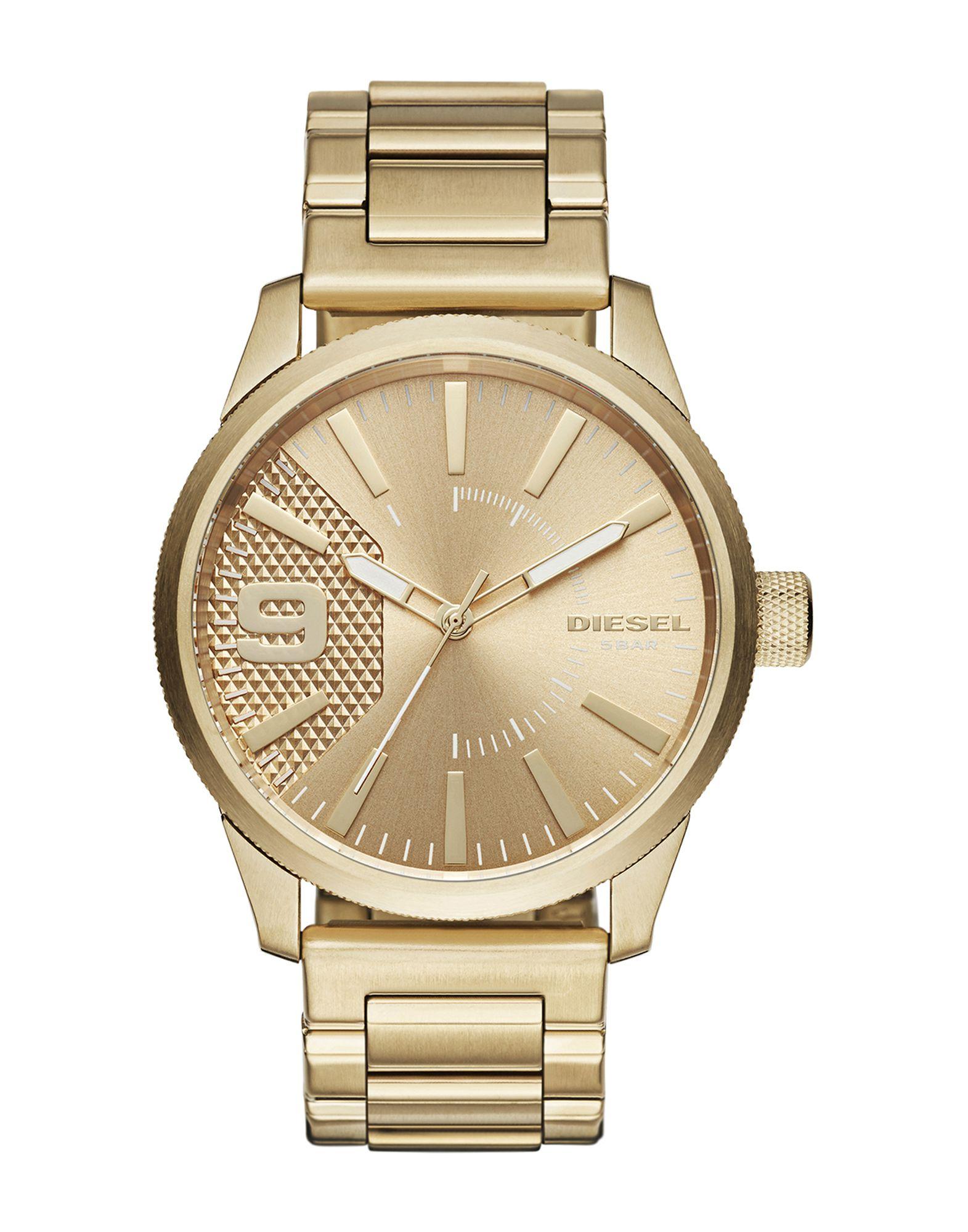 《セール開催中》DIESEL メンズ 腕時計 ゴールド ステンレススチール RASP