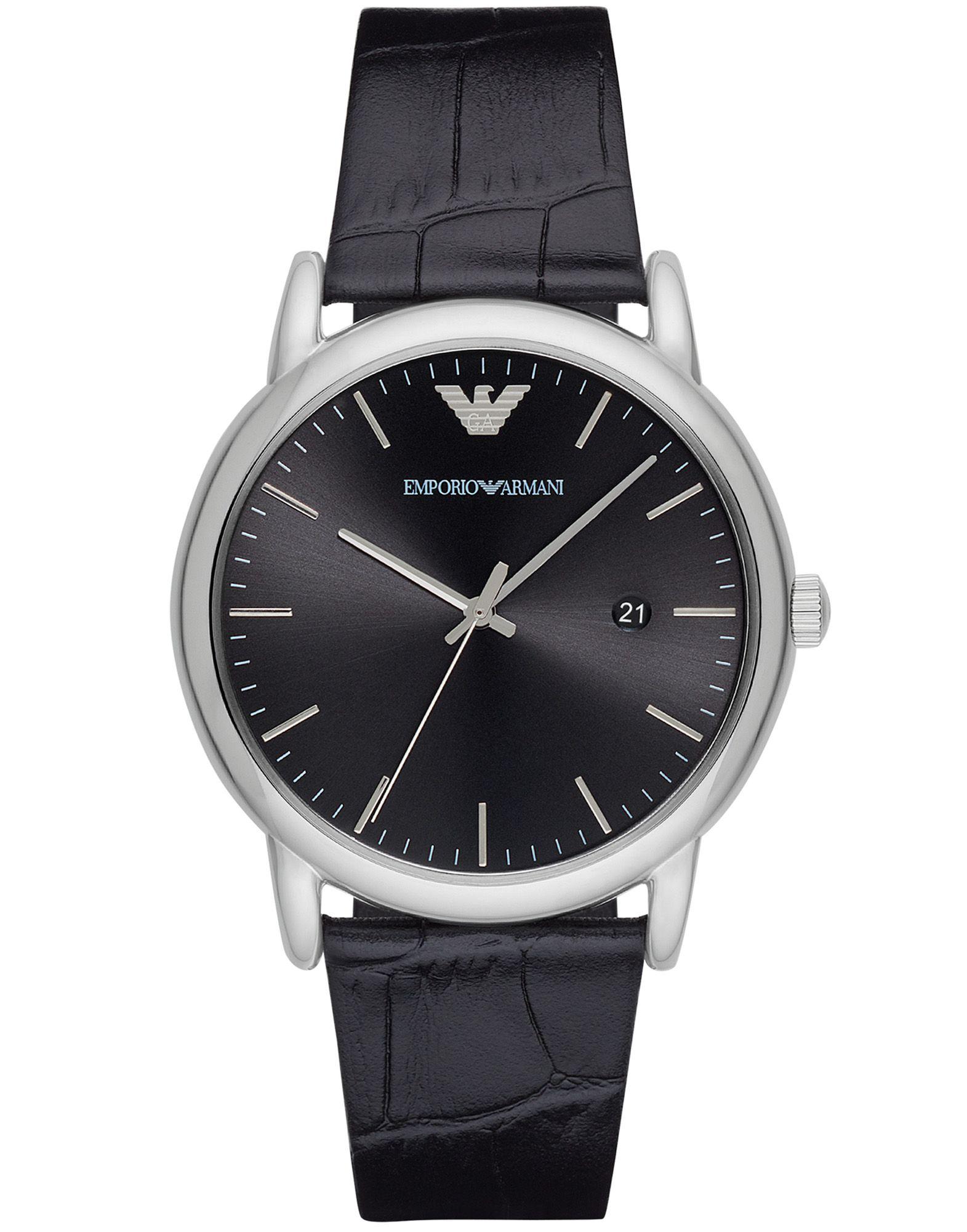 EMPORIO ARMANI Наручные часы часы relogio feminino мужчины ложная крокодил кожа blu ray часынаручные часы