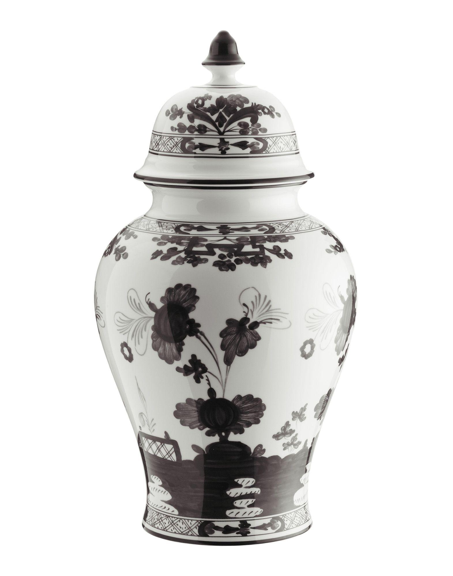 RICHARD GINORI Unisex Vase Farbe Schwarz Größe 1