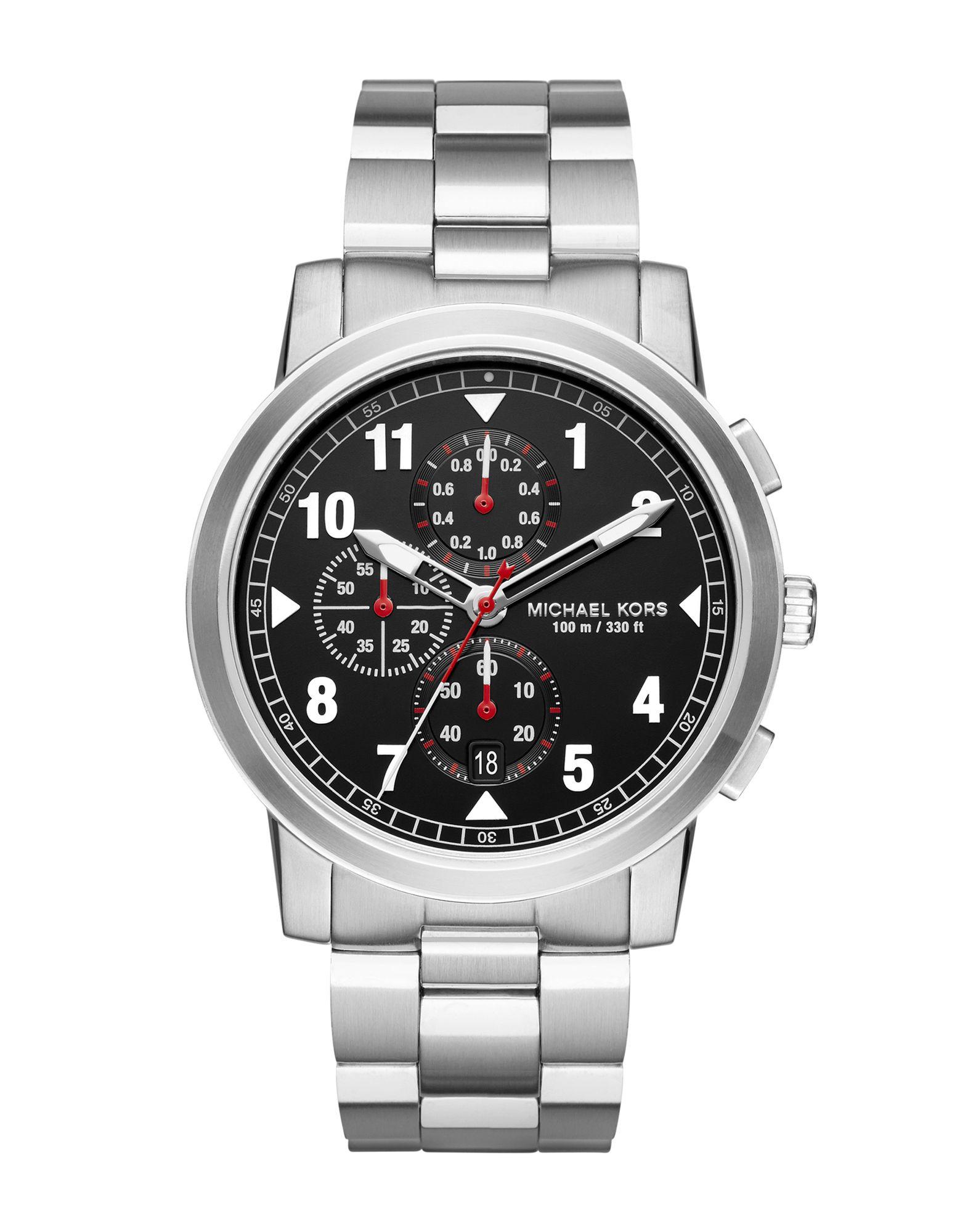 《送料無料》MICHAEL KORS メンズ 腕時計 シルバー ステンレススチール PAXTON UPDATE