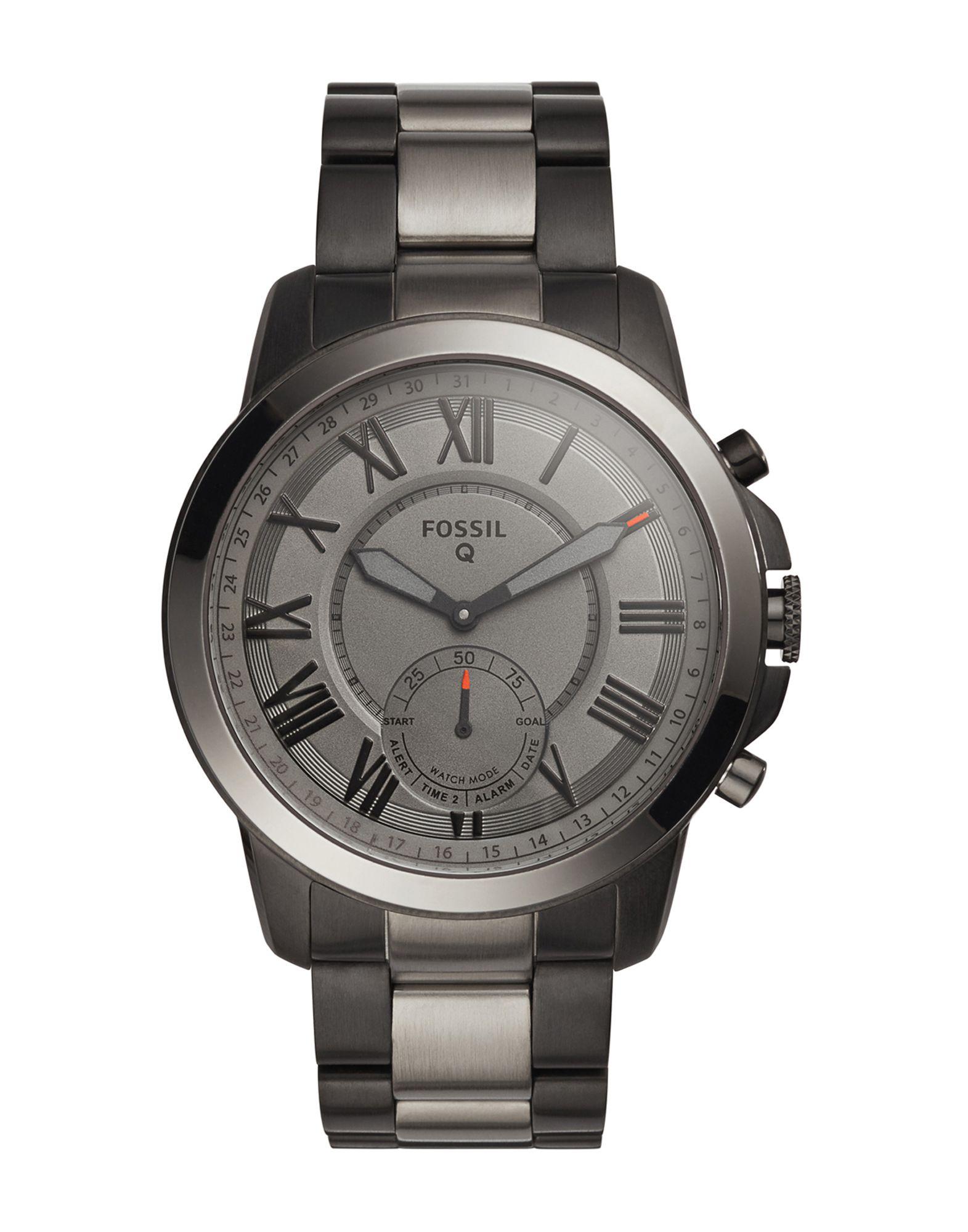 《送料無料》FOSSIL Q メンズ スマートウォッチ グレー ステンレススチール Q Grant Hybrid Smartwatch