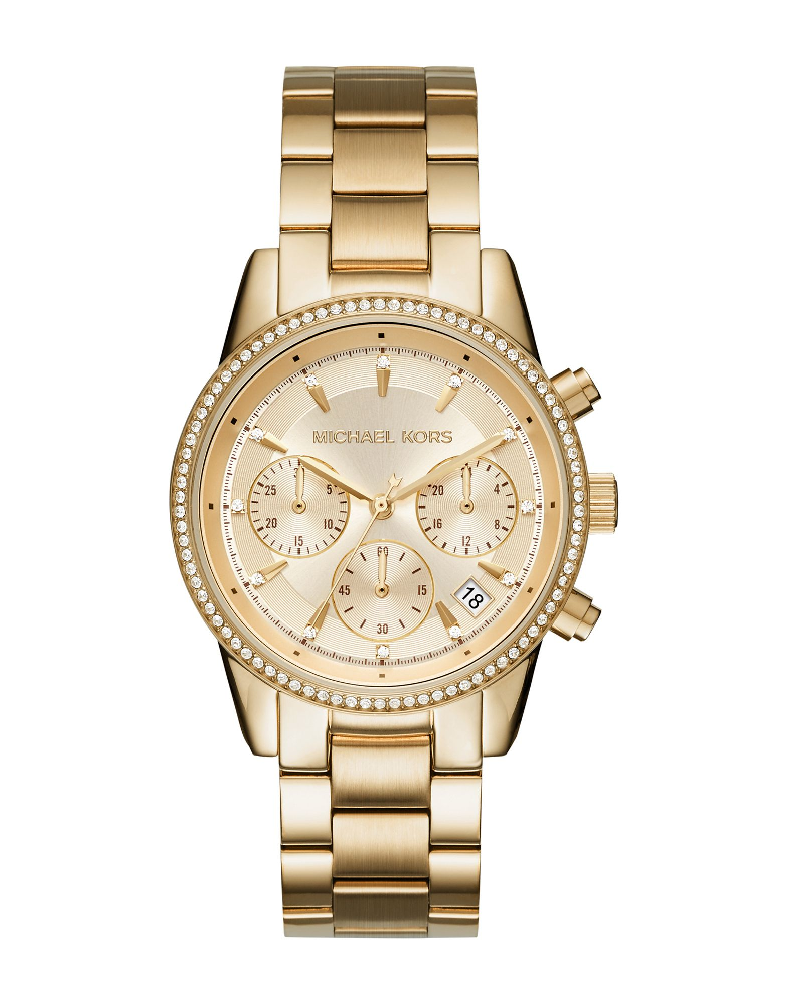 《送料無料》MICHAEL KORS レディース 腕時計 ゴールド ステンレススチール RITZ