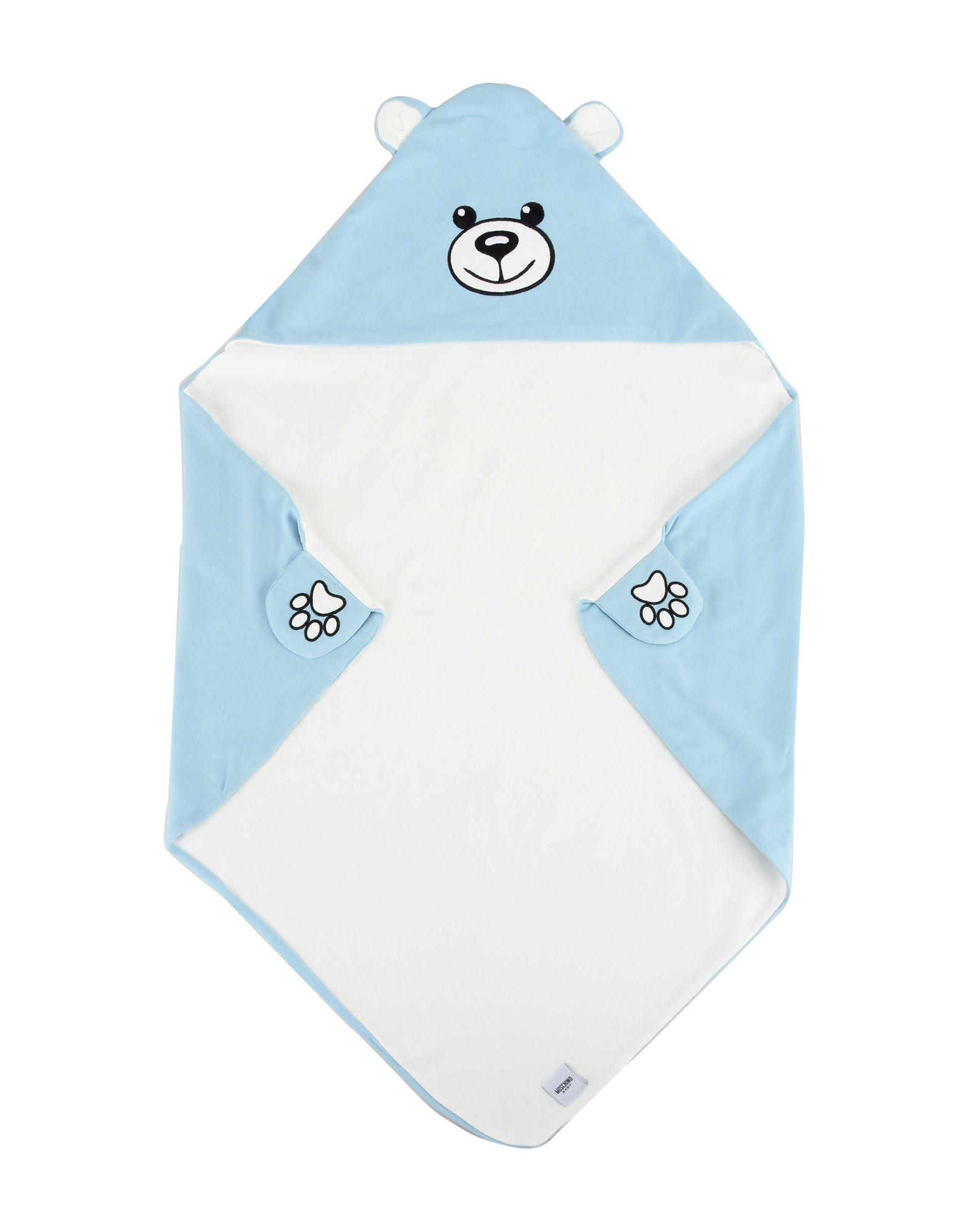 MOSCHINO BABY Unisex Wolldecke Farbe Himmelblau Größe 1