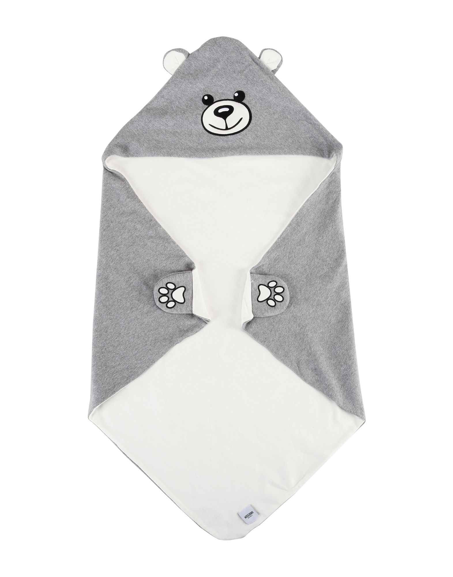 MOSCHINO BABY Unisex Wolldecke Farbe Grau Größe 1