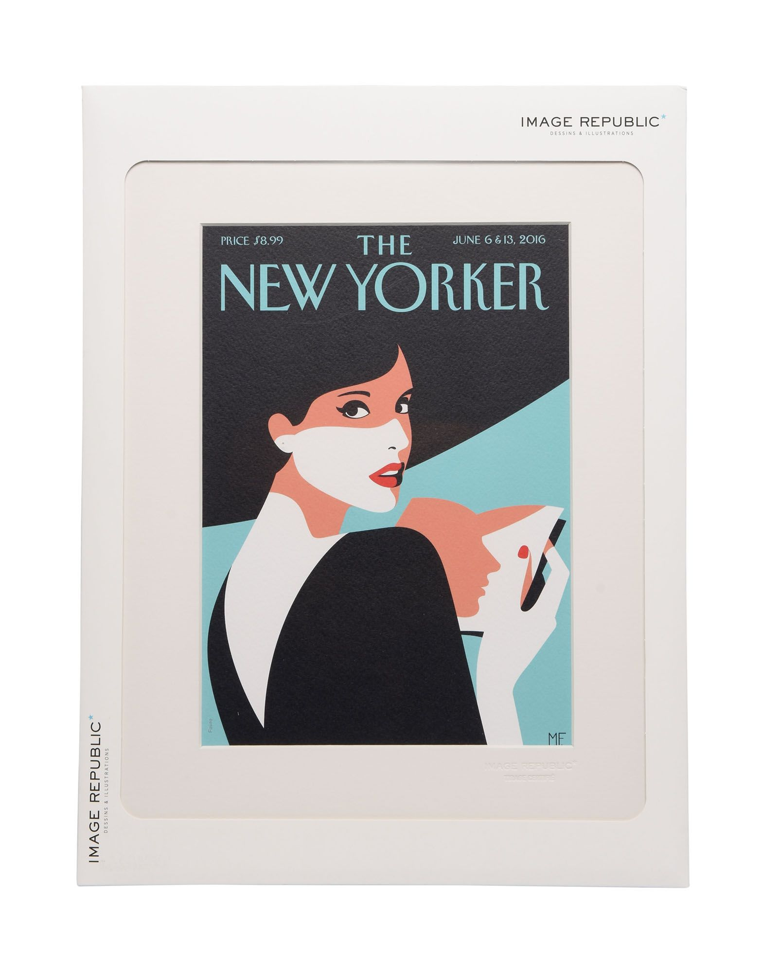 《送料無料》IMAGE REPUBLIC Unisex デコレーション ターコイズブルー 指定外繊維(紙) THE NEWYORKER 86 FAVRE PAGE turner
