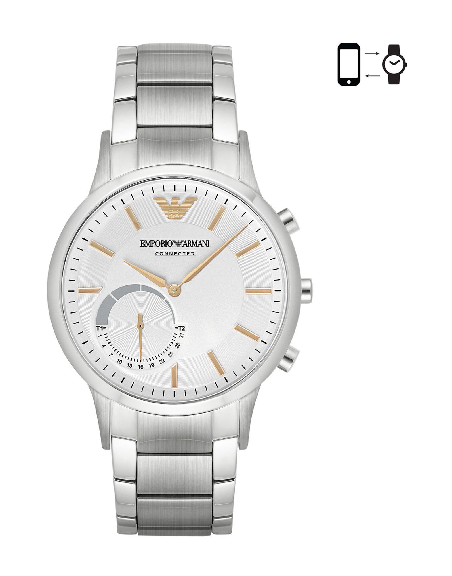 EMPORIO ARMANI CONNECTED Herren Smartwatch Farbe Weiß Größe 1 - broschei