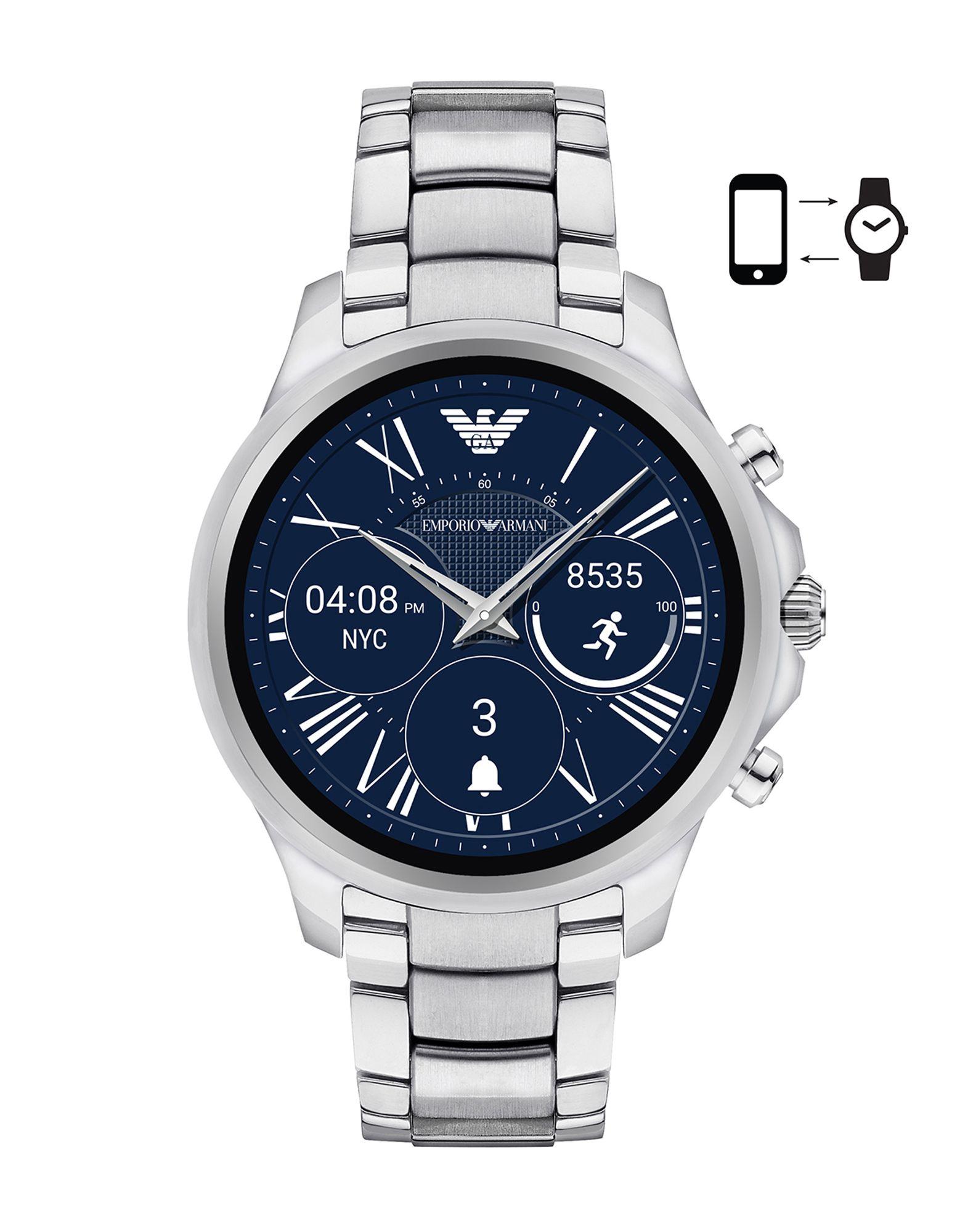 EMPORIO ARMANI CONNECTED Herren Smartwatch Farbe Silber Größe 1