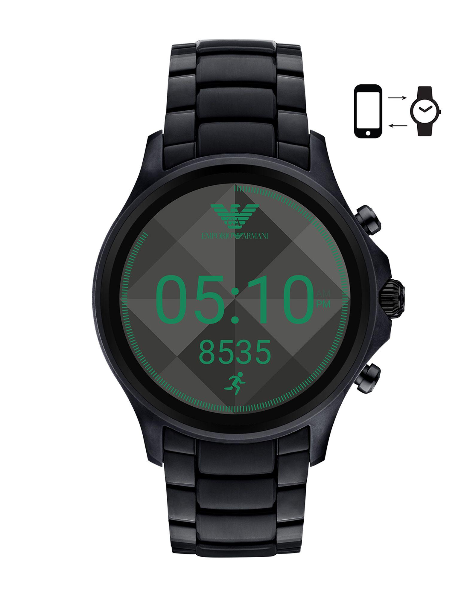 EMPORIO ARMANI CONNECTED Herren Smartwatch Farbe Schwarz Größe 1 - broschei