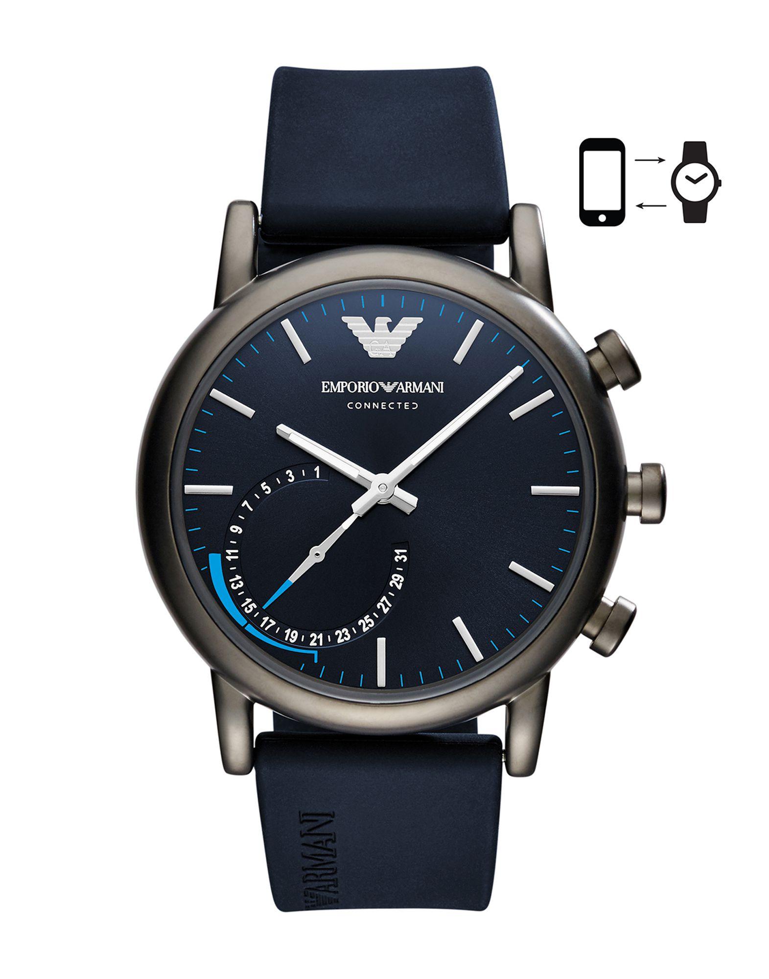 EMPORIO ARMANI CONNECTED Herren Smartwatch Farbe Dunkelblau Größe 1