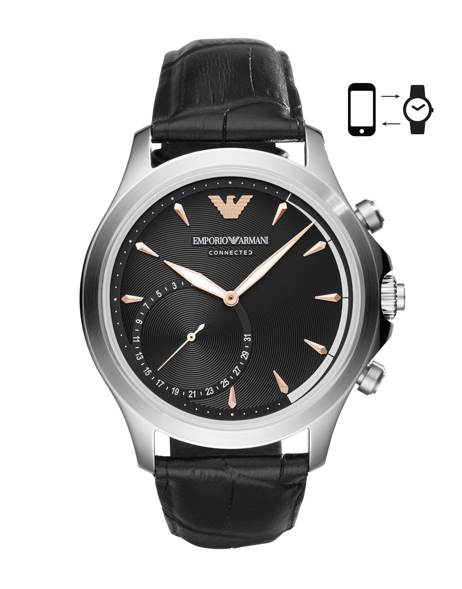 EMPORIO ARMANI CONNECTED Herren Smartwatch Farbe Schwarz Größe 1 jetztbilligerkaufen